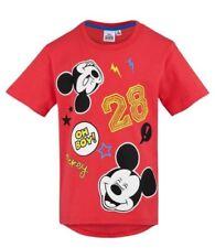 T-shirts, débardeurs et chemises rouge Disney à longueur de manche manches courtes pour garçon de 2 à 16 ans