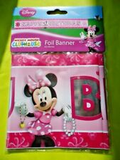DISNEY MINNIE MOUSE  FOIL BANNER  4.5 METRES - GIRL'S BIRTHDAY PARTY DECORATION