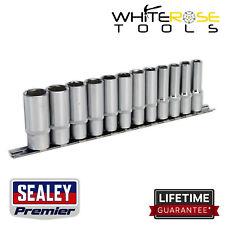 "Sealey Socket Set Premier 12pc 3/8""Sq Drive 6pt Deep WallDrive® Metric 8-19mm"