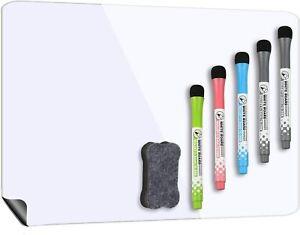 Magnetic Whiteboard for Fridge 17''x12'', Stain Resistant Technology, Magnetic