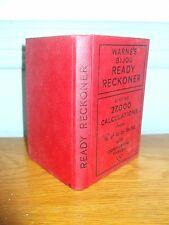 WARNE'S BIJOU READY RECKONER VINTAGE SMALL HARD BACK BOOK GOOD CONDITION