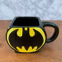Batman Coffee Mug Tea Cup DC Comics Square Shape with Round Black Yellow