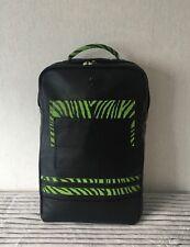 Black Leather Backpack School Bag