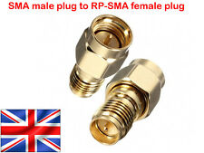 SMA male plug to RP-SMA female plug RF coaxial adapter connector - UK Fast Post