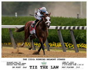 TIZ THE LAW BELMONT STAKES COMPOSITE PHOTO 10 X 8