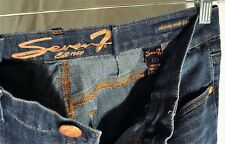 Womens 7Seven Ankle Jeans Size 6 Dark Wash Skinny Pants Easy Fit - EXCELLENT++