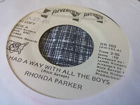 Rhonda Parker 45 I Had a Way with all the Boys Promo Memphis Private Country