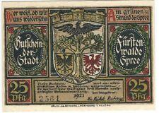 Notgeld - Stadt Fürstenwalde - 25 Pfennig 1921 - Motiv 1