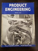 March 1939 Product Engineering Magazine Vinatge Ads and Tech History