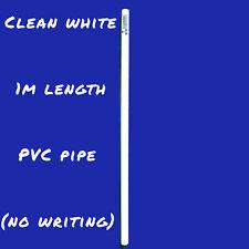 Premium 20mm PVC Pipe 1m - No Writing