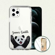 Super HI RES Panda  Phone Unique Personalised Name Clear Front Back Case Cover