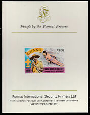 Ghana (1568)  1976 Scout Jamboree 1c imperf on Format International PROOF  CARD