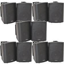 """10x 90w schwarz Wandmontage Stereo Lautsprecher –5.25"""" 8 Ohm – Qualität Home Audio Musik"""