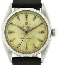 Rolex Oyster Perpetual Bubble Back, Ref. 6085, ~ 1952, Stahl mit Bodennummer