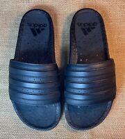 * Adidas UltraBoost Triple Black Boost Slides * Size Mens US 10 * New In Box *