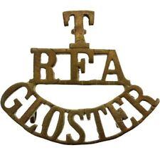 WW1 Territorial Gloucestershire Royal Field Artillery T RFA Shoulder Title FC02
