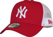 NY Yankees New Era Scarlet Clean Trucker Cap