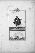 Senatore - Incisione Originale 1805-1815 - Napoleone Impero
