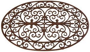 Doormat Cast Iron Oval Braun 74 x 48,5 X CM