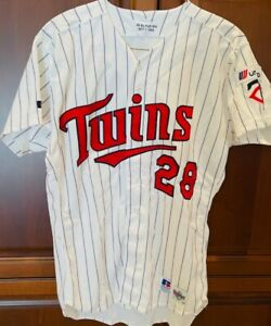 1993 Bert Blyleven Game Used Home Minnesota Twins Jersey Set 1