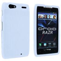 White Snap-On Hard Case Cover for Motorola Droid Razr XT912