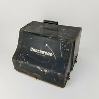 RARE! 1909 ANTIQUE UNDERWOOD STANDARD TYPEWRITER NO.5 w/ WOODEN BASE & TIN COVER