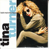 """TINA TURNER Look Me In The Heart PICTURE SLEEVE 7"""" 45 + juke box title strip NEW"""