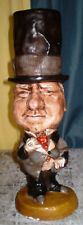 P.T. Barnum WC FIELDS Chalkware Vintage Esco Style 20s 30s Chalkware Statue 17""