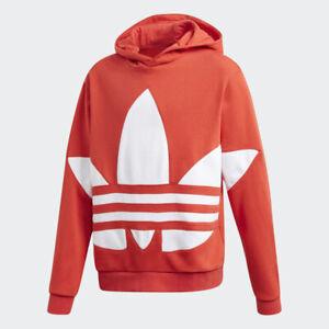 adidas Originals Big Trefoil hoodie in red . Age 7-8 & 11-12 years.