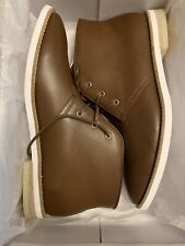 Calvin Klein Men's Able Nappa Calf Leather Tan Ankle High Boots Size 7.5M NIB