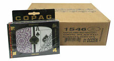 12 UNITS COPAG 100% Plastic Playing Card Poker Jumbo Index Purple/Grey Bulk