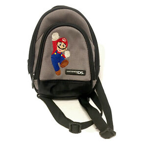 Nintendo DS Super Mario Bros Travel Case Carrying Bag Protector Mini Backpack