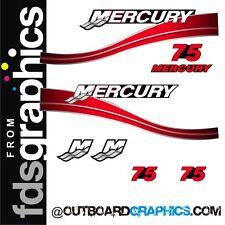 Mercury 75hp dos tiempos motor fuera de borda gráficos/Kit de la etiqueta engomada