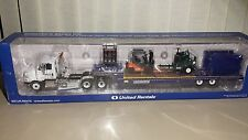 United Rentals International ProStar Truck, Lowboy Trailer, & Equipment