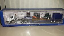 United Rentals International ProStar Truck, Lowboy Trailer, & Equipment