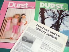 DURST DARKROOM CLUB Magazines No.9 & 24 - complete 40pp A4 1981 1985