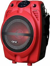 Qfx Bluetooth Led Portable Party Speaker w/ Equalizer Fm Aux-In Usb/Sd/Tf Remote