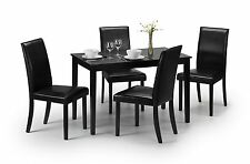 Hudson Dining Table -lacquer Black 5060354911181 by Julian Bowen