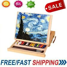 Adjustable Folding Artist Easel Drawing Painting Tabletop Easel Box w/Drawer