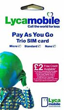Gold Easy Good Fancy Memorable Number PAYG trio sim card Lycamobile