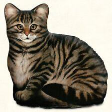 Brown Tabby Cat Shaped Doorstop or Pillow