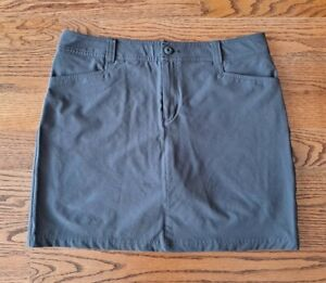 Eddie Bauer Hiking Fishing Casual Skort/Skirt/Shorts Women's Size 12 Gray EUC