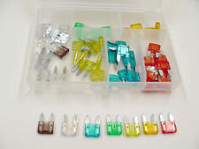 50 Assorted Mini Blade Fuses Kit Wiring Harness Electrical Box NOS Import Amps