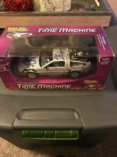 Michael J Fox & Christopher Lloyd Signed Diecast Delorean 1/24 JSA