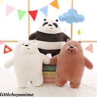 Anime We Bare Bears Grizzly panda Ice Bear Plush Toy stuffed toy Cute Doll Gift