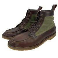 Red Wing Heritage Mens Size 10 Wacouta Briar Oil Slick Brown Leather Boots 3336