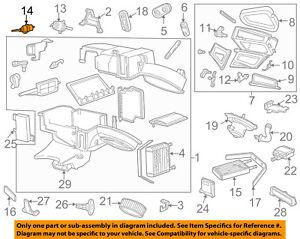 FORD OEM Evaporator Heater-Vacuum Motor 6L2Z18A318CA