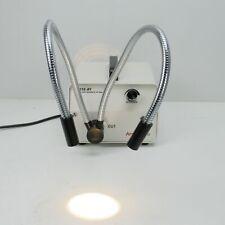 Amscope 150 Ay Microscope Fiber Optic Light Source With Gooseneck Light Guides
