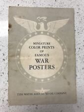 1940s Tidewater Oil War Posters Booklet w/ Posters