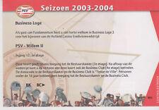 Sammler Used Ticket / Entrada PSV Eindhoven v Willem II Tilburg 23-08-2003